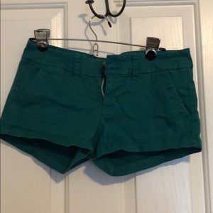Cute blueish green shorts in great condition!